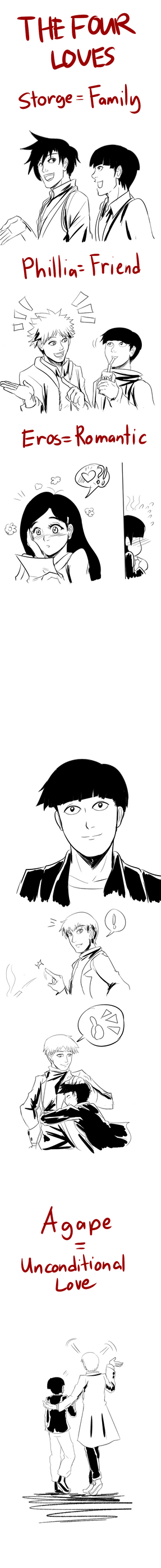 MP100: The Four Loves by witch-girl-pilar