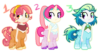 MLP Pretty Centaurs Adopts 1 LEFT!!(*CLOSED!*) by hharv