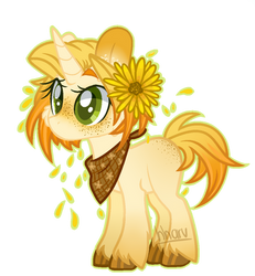 MLP Sunflower pony Adopt -BUY NOW!-(*CLOSED!!*) by hharv