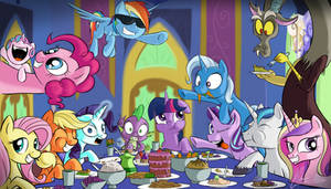 Royal Thanksgiving Dinner by OinkTweetStudios