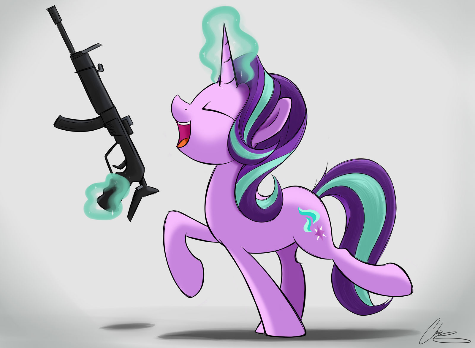 Glimmer Gun 3000 by OinkTweetStudios