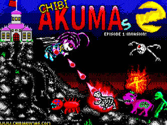 ChibiAkumas for the Msx - Title Screen by akuyou56
