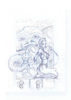Leia Jabba Pencil