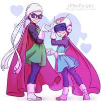 Saiyaman and Saiyawoman!