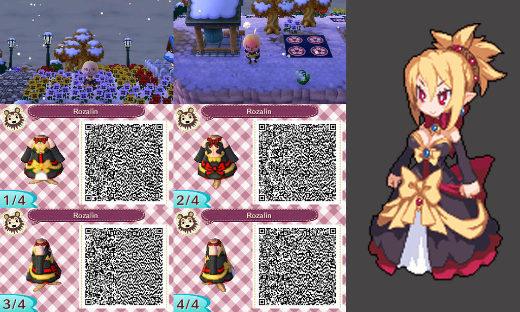 Animal Crossing New Leaf  Rozalin QR Code  3rd Ed  by TechieWidgetQr Codes Animal Crossing New Leaf Dresses