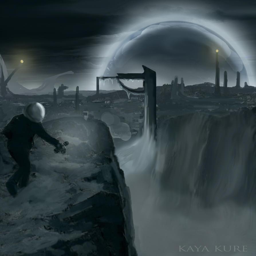 Scifi winter - cover art by KayaKure