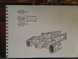 Star Wars Ship Design- Light Cruiser by vuluvala2008
