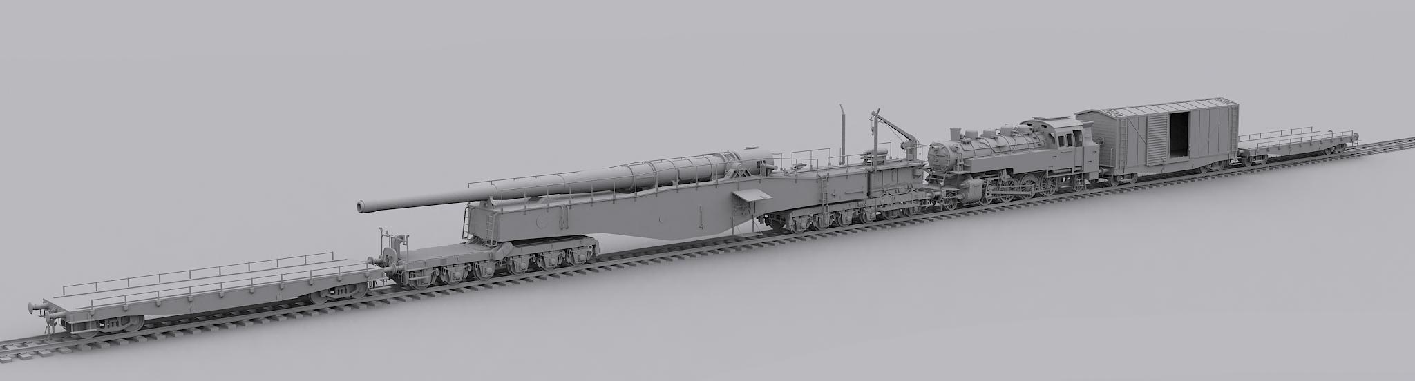 Railway Gun wip A by ld810103