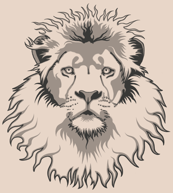 Lion Head Tattoo Style by Rustyoldtown