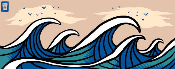 Japanese Wave Design Tattoo
