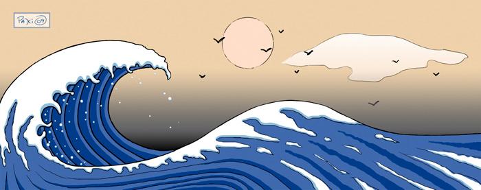 Japanese tsunami design by Rustyoldtown