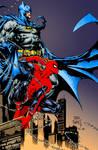 Batman and Spider-Man colour