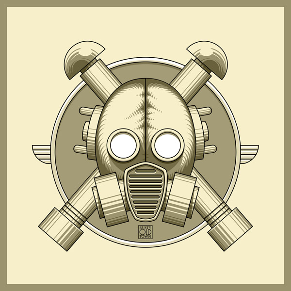 Art Deco Gasmask retro by Rustyoldtown