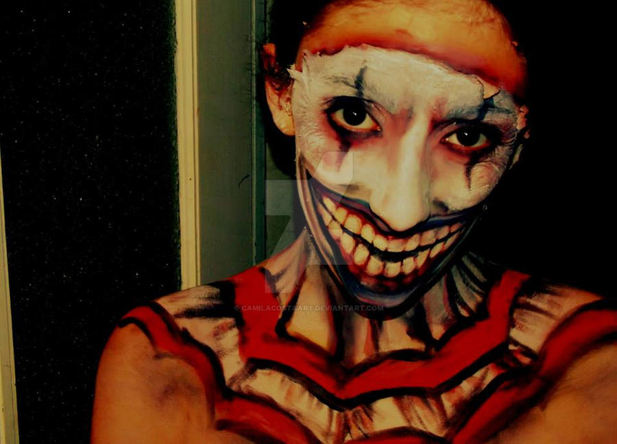 American Horror Story Freakshow Evil Clown Makeup by CamilaCostaArt