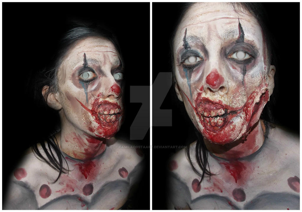 zombie clown makeup by camilacostaart on deviantart. Black Bedroom Furniture Sets. Home Design Ideas