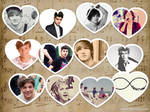 One Direction Hearts Wallpaper