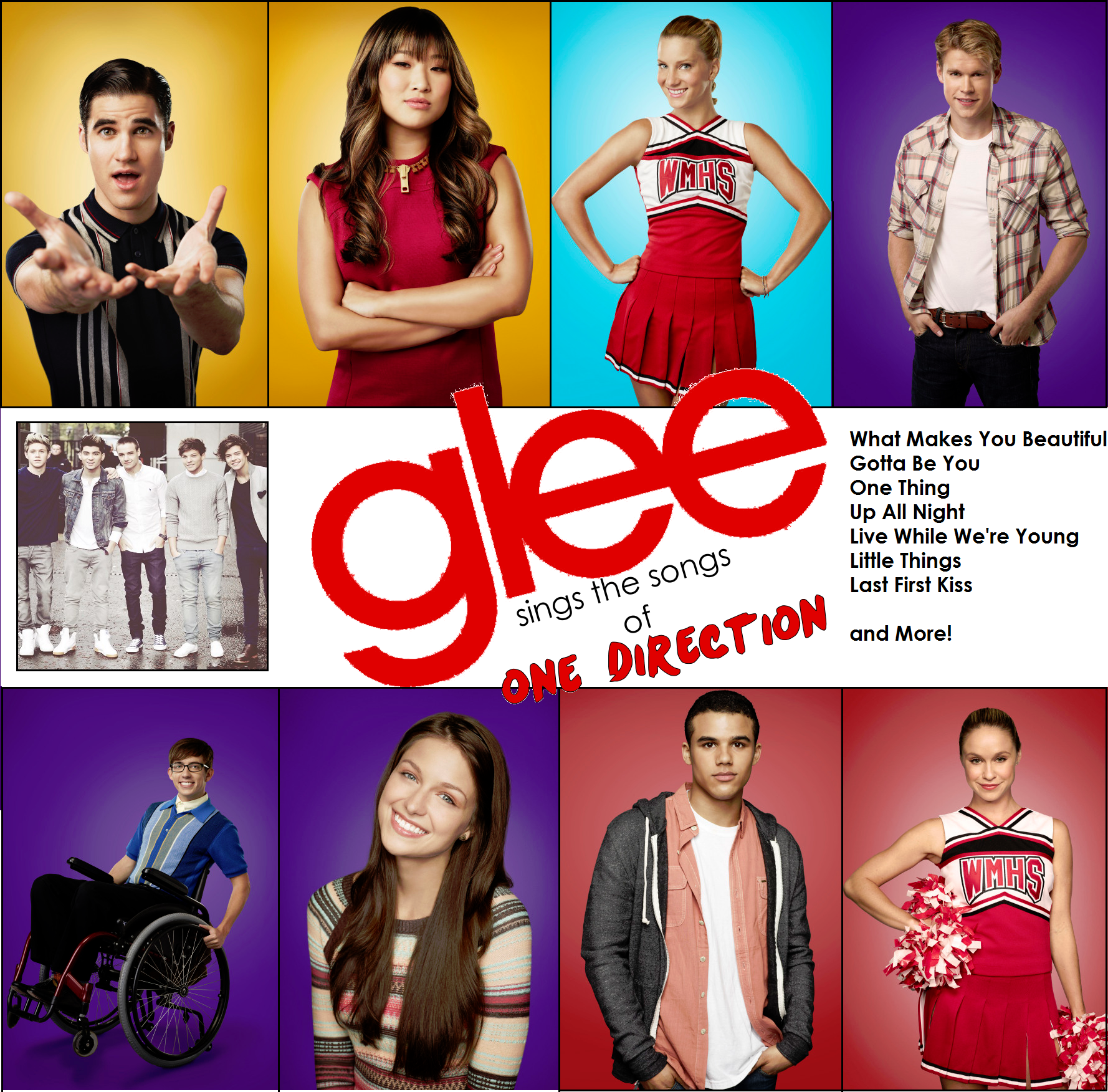 Glee sings the songs of One Direction Album Cover by ...
