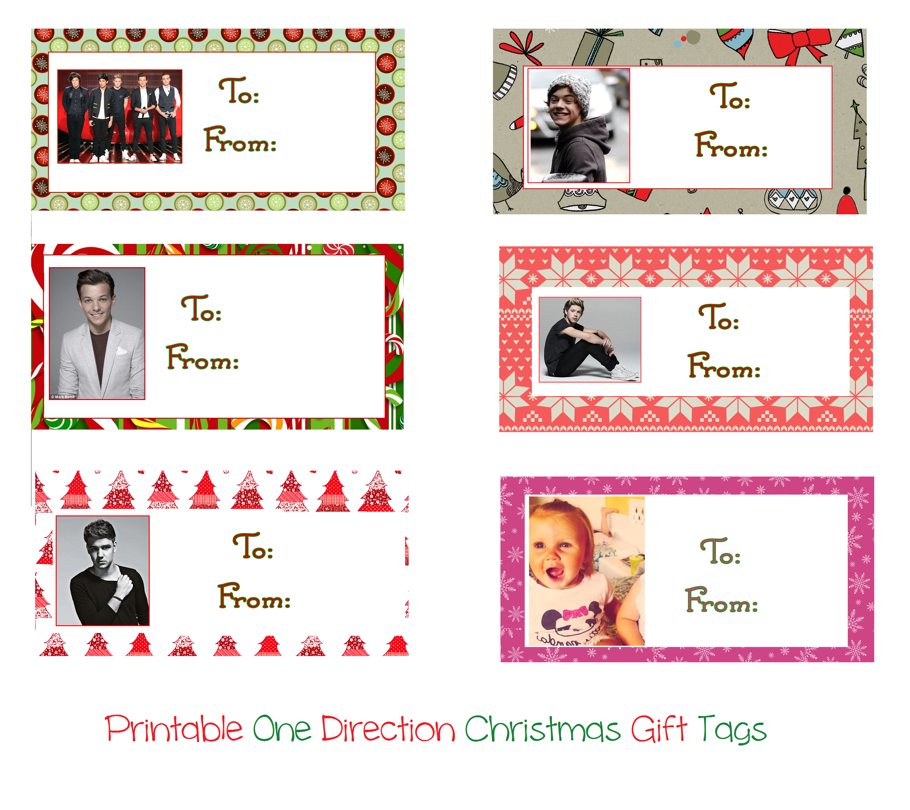 Printable One Direction Christmas Gift Tags by iluvlouis on DeviantArt