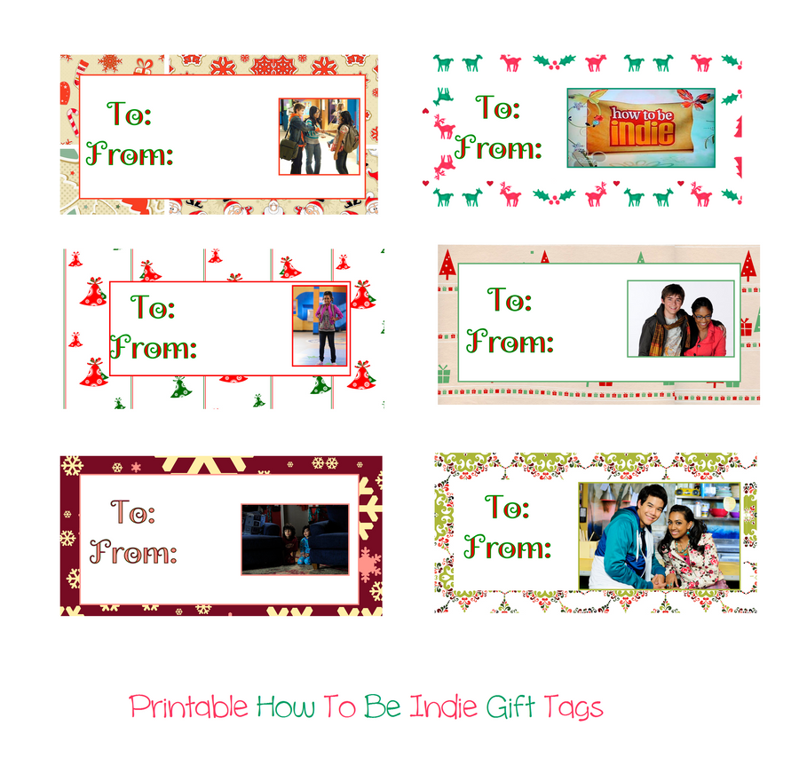 Printable How To Be Indie Christmas Gift Tags by iluvlouis on DeviantArt