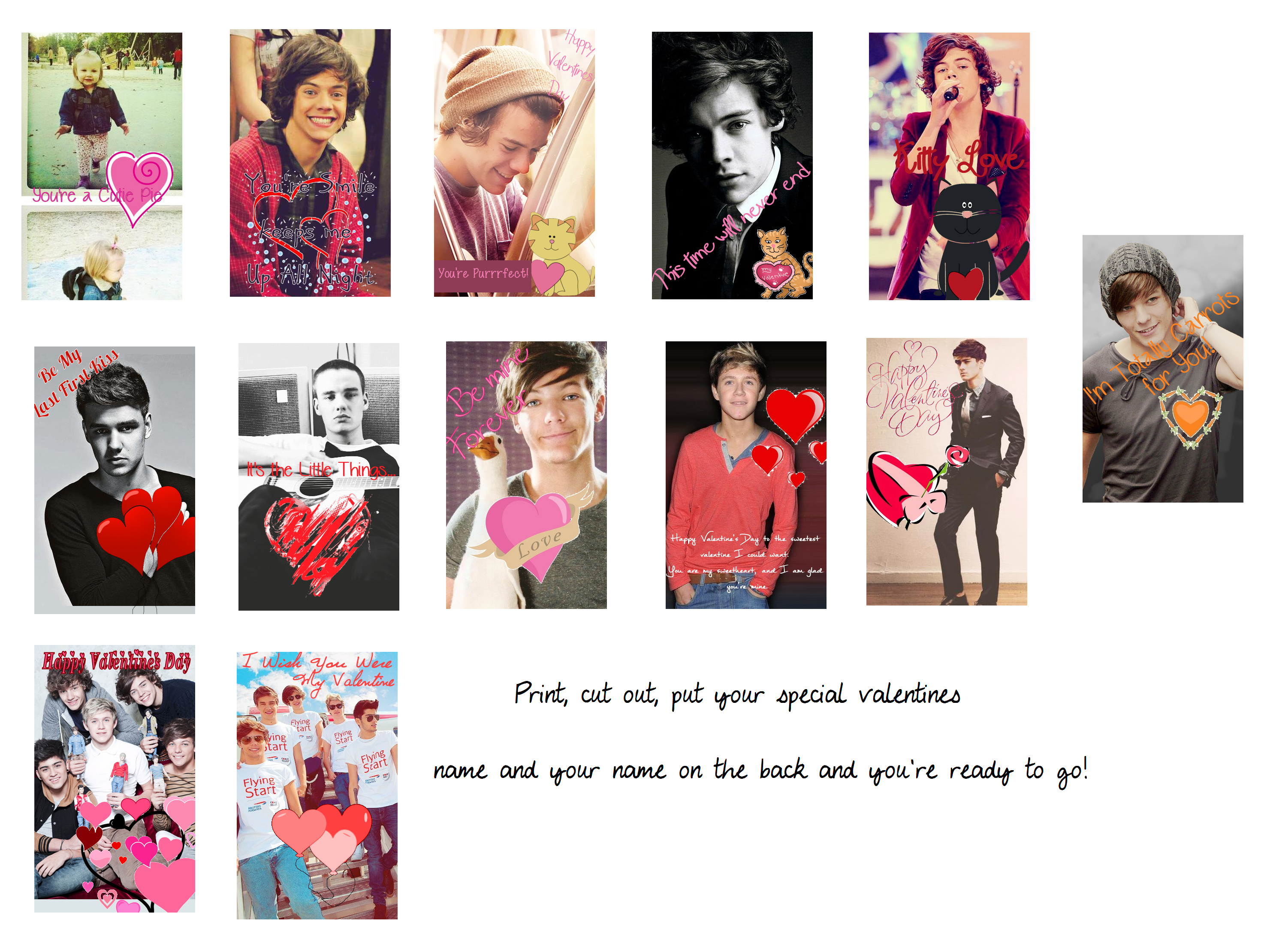 One Direction Valentines Day Cards 2 by iluvlouis on ...