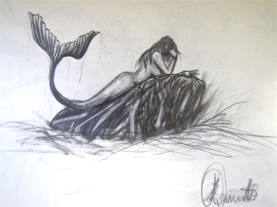 mermaid pencil sketch by artlikemusic