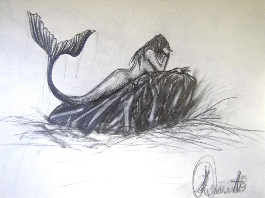 Mermaid pencil sketch by artlikemusic on DeviantArt