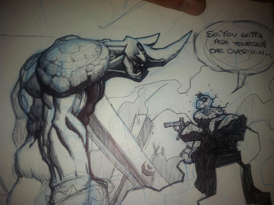 Spidey vs. Rhino by Spoon1004
