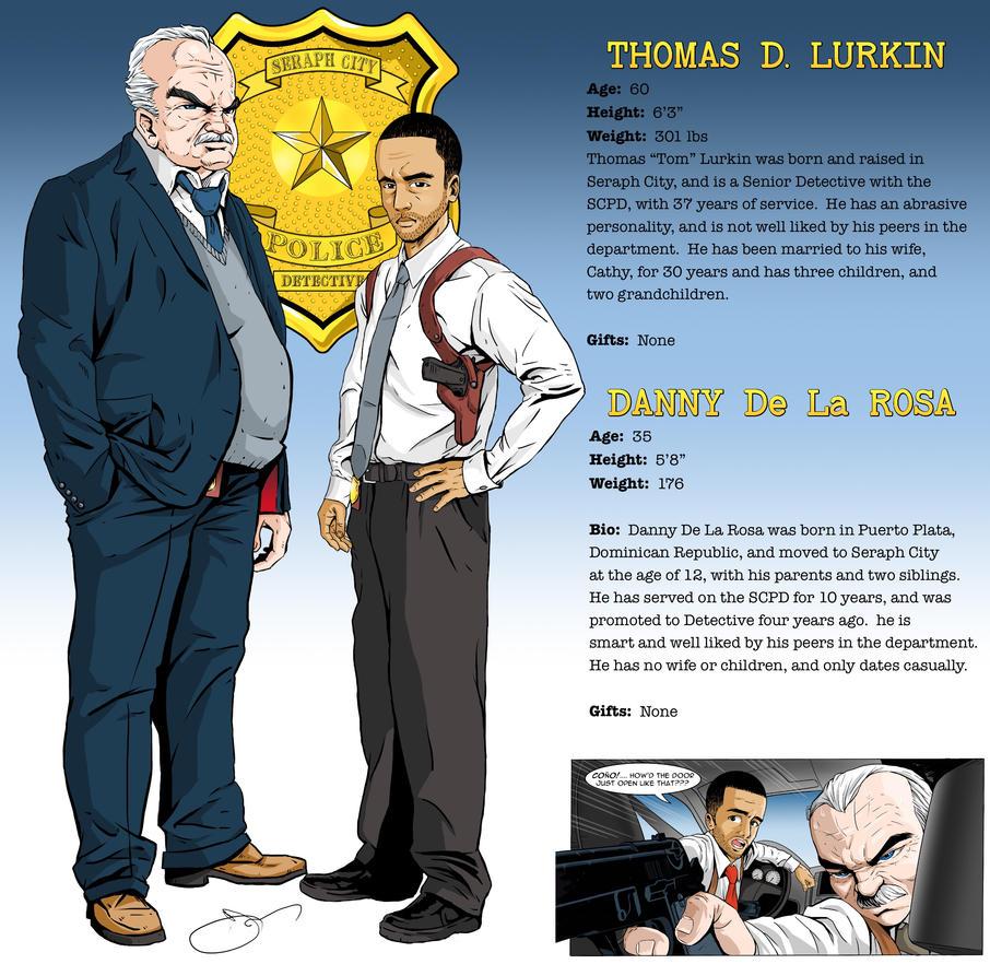 Detectives Character Card by lyonsartandmedia