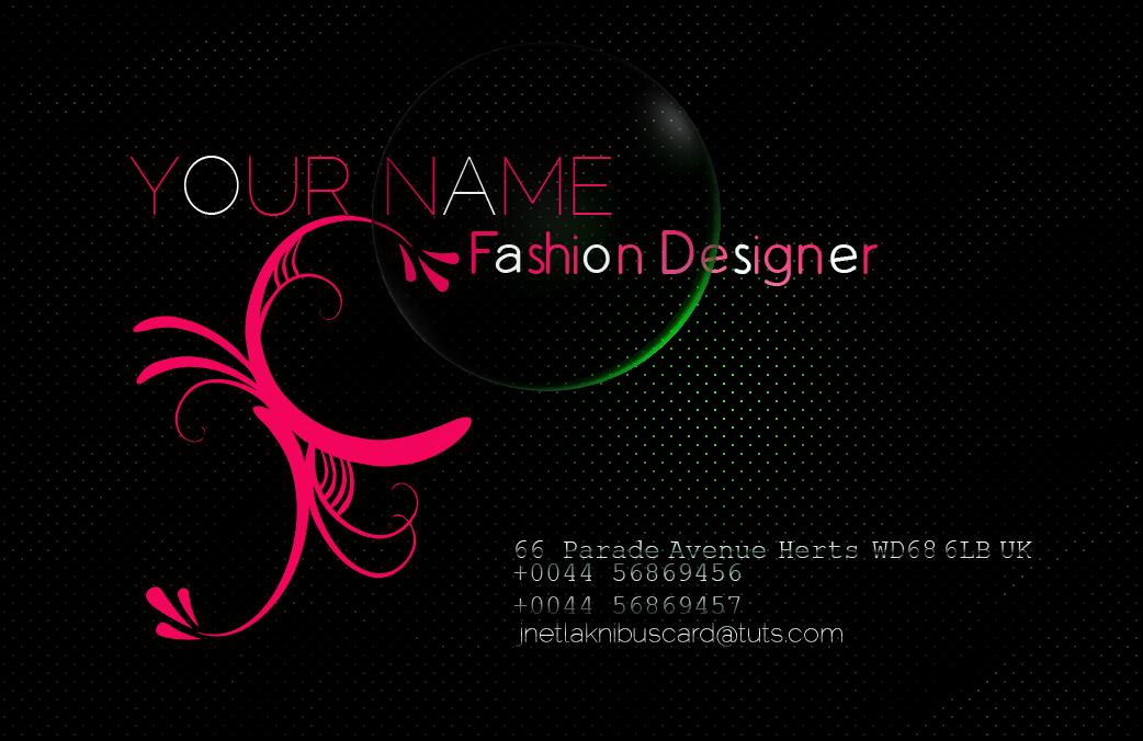 Fashion Business Card Back By Jnetlakni
