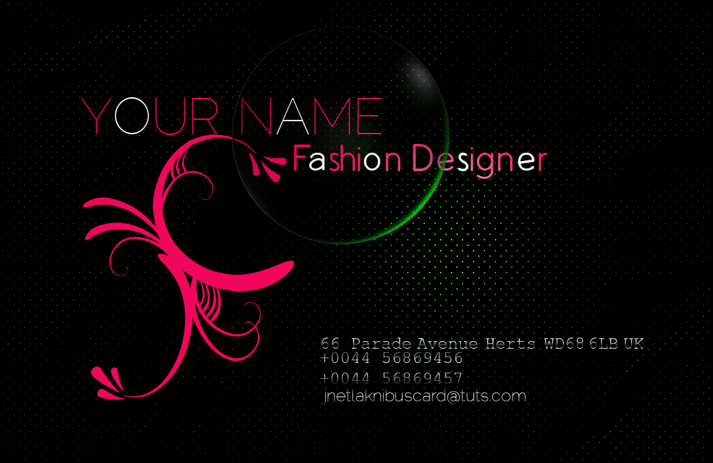 Fashion Business Card Back