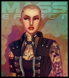 Mass Effect - Jack by lux-rocha