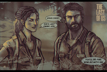 The Last of Us - Joel and Tess by lux-rocha