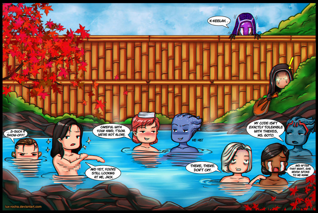 Mass Effect - Onsen Time by lux-rocha