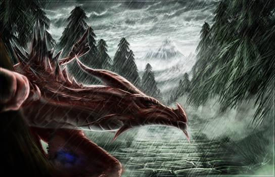 Winged Snow Hunter - Skyrim