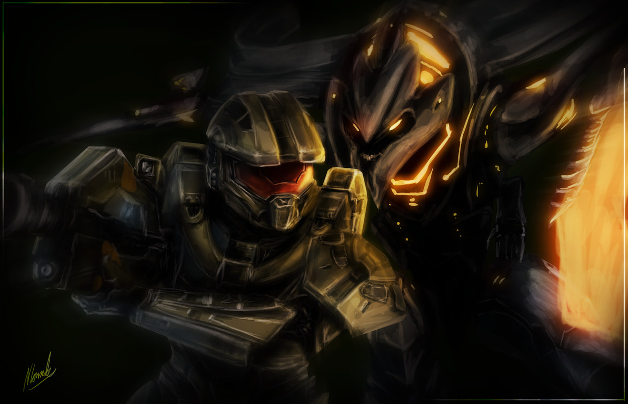 The Promethean - Halo 4 Speed Art - 3hrs by IceDragonhawk