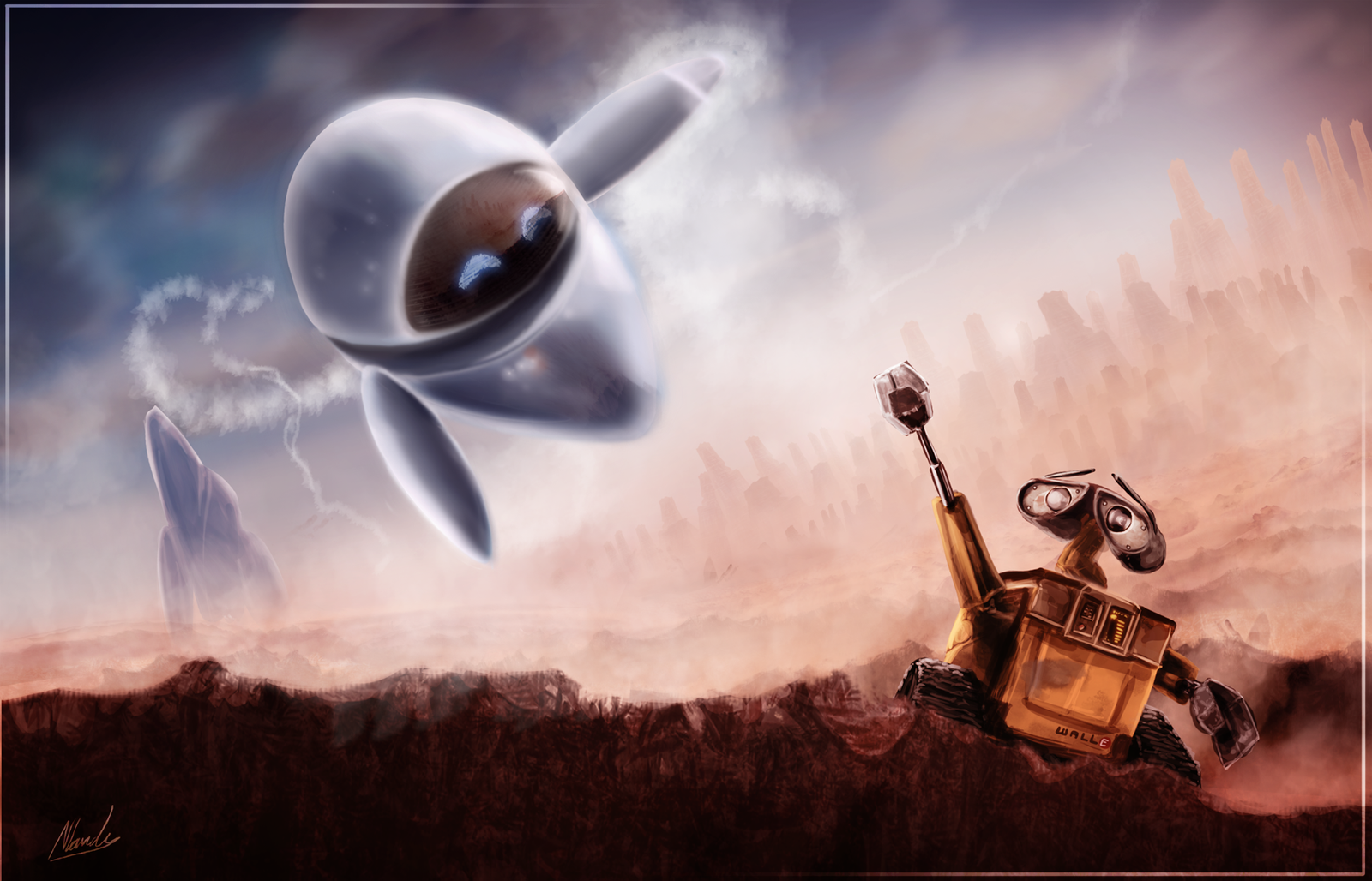 Visitor - Wall-E Speed Art - 4hrs by IceDragonhawk
