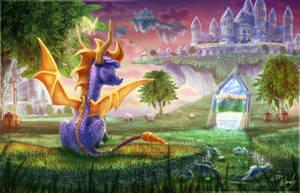 Spyro Origins by IceDragonhawk