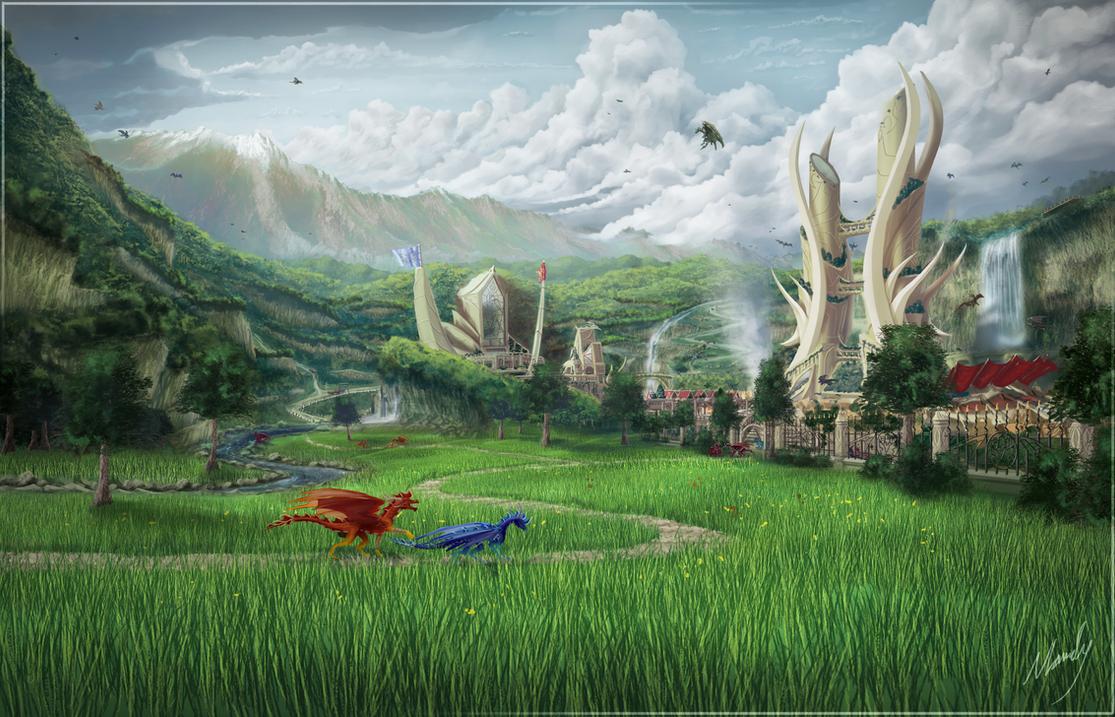 The City of Arisanda - Vesta\'s Chronicle by IceDragonhawk onvesta city