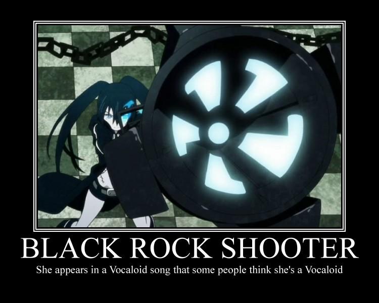 Black Rock Shooter Motivational Poster By Vocaloidbrsfreak97