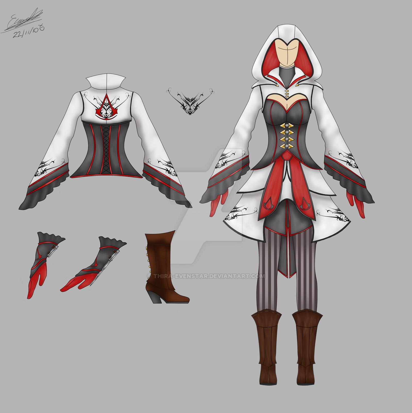 female assassins costume AC by Thira-Evenstar on DeviantArt