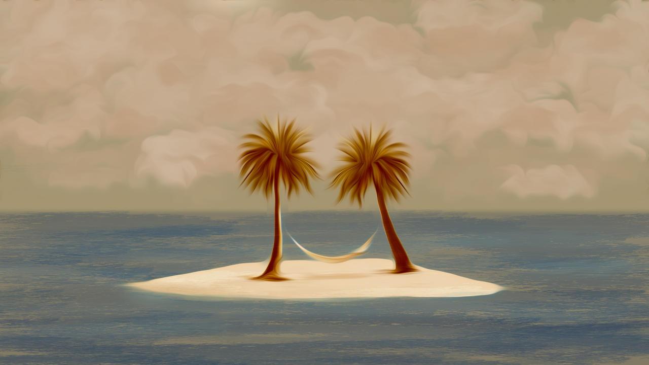 Deserted palms