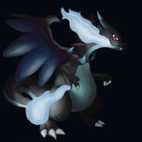 Mega Charizard X by Rabid-Fangirl212
