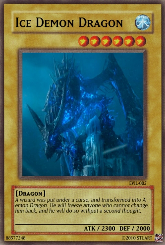 Ice Demon Dragon by FelgrandKnight34