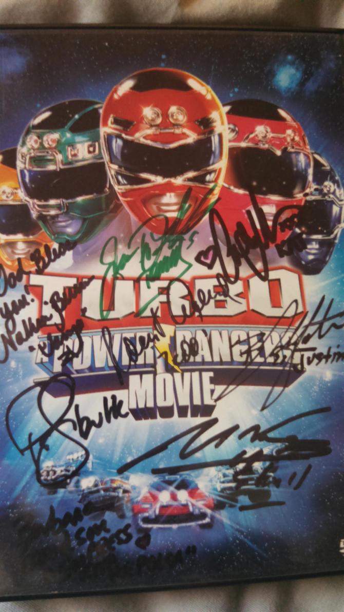 Power Rangers Turbo signature DVD by FelgrandKnight34