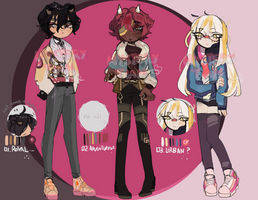 CLOSED March's Adoptables OTA by MysTian-Adopts