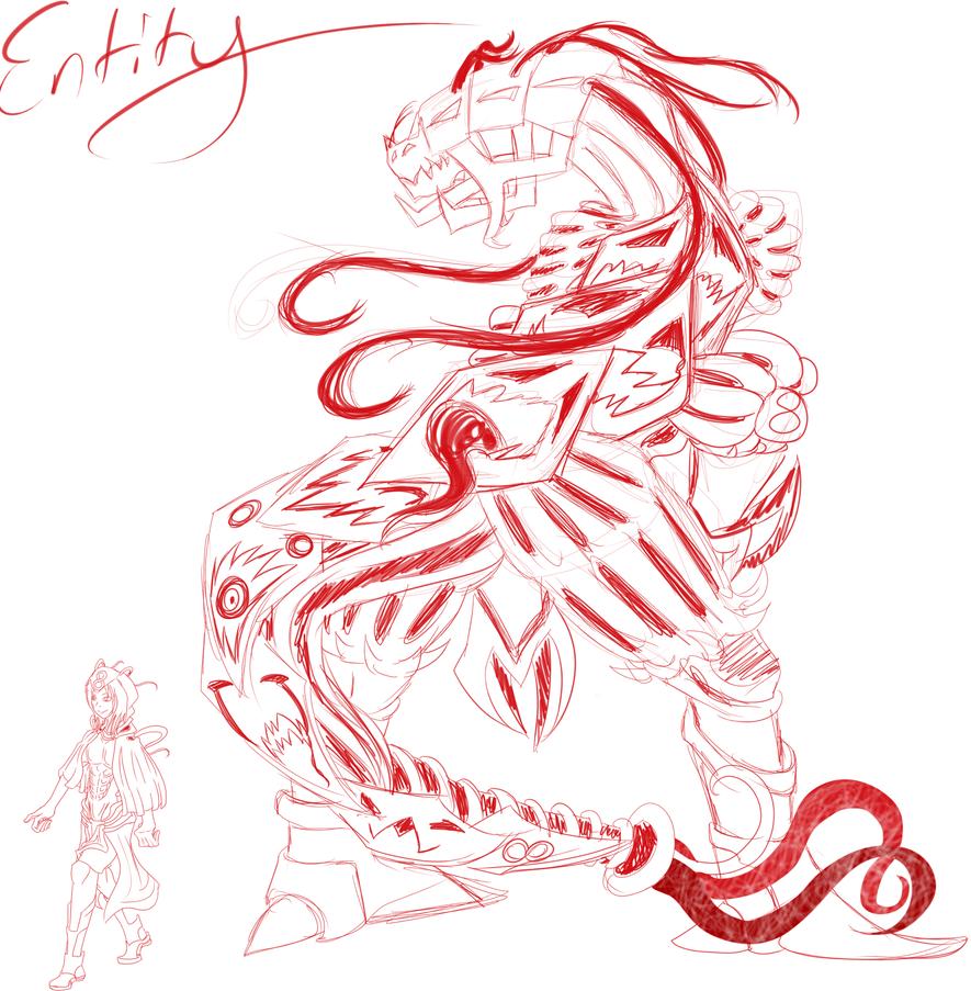 Entity Form (Sketchy) by XTKandChaosX