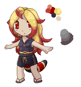 Coral Snake Sprite Character by XTKandChaosX