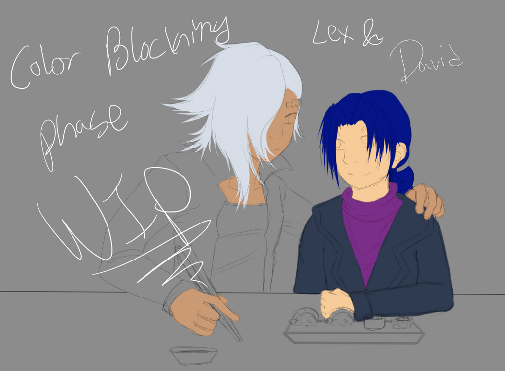 WIP - Lex and Davide (UPDATE) by XTKandChaosX