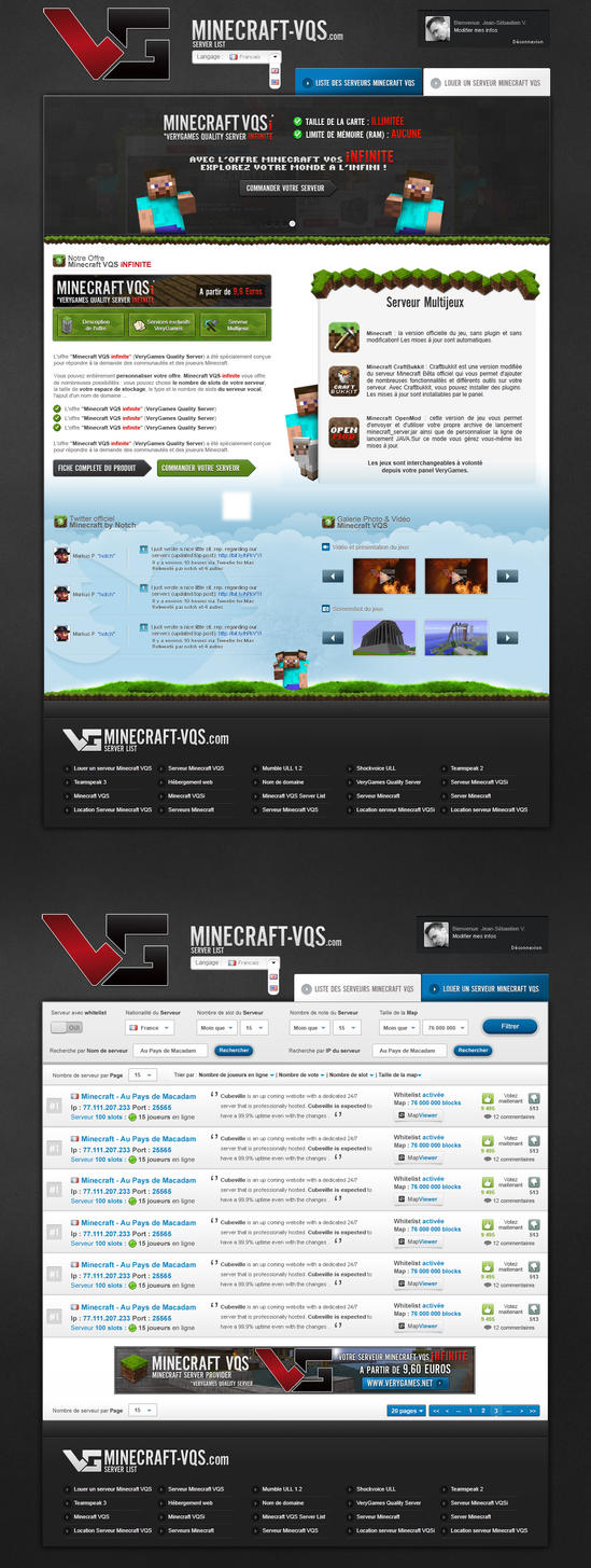 Minecraft VQS ServerList v2 by nyukdesign