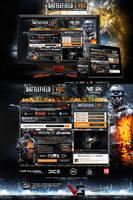 Battlefield 3 Showcase site by nyukdesign